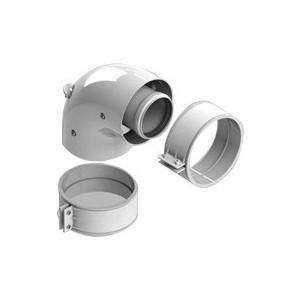 Адаптер-отвод STOUT диаметр 60/100 для котла угловой 90 градусов коаксиальный (SCA-6010-210190) фото