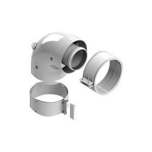 Адаптер-отвод STOUT диаметр 60/100 для котла угловой 90 градусов коаксиальный (SCA-6010-230190)