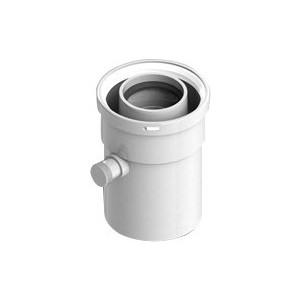 Патрубок STOUT вертикальный диаметр 60/100 п/м для сбора и отвода конденсата (SCA-6010-000101)