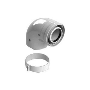 Отвод STOUT 90 градусов диаметр 60/100 м/п PP-FE с адаптером (совместим Vaillant и Ariston) (SCA-8610-230090)