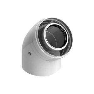 Отвод STOUT 45 градусов диаметр 60/100 м/п PP-FE (SCA-8610-000045) стоимость