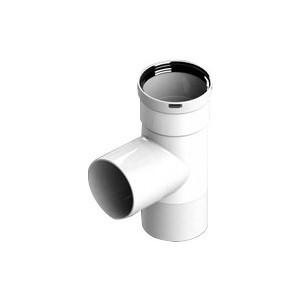 Тройник STOUT прямой диаметр 80 п/п/м PP-FE (SCA-8080-030210) труба stout телескопическая диаметр 80 315 370 мм п м sca 0080 010375