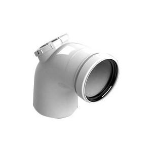 Отвод STOUT 87 градусов с ревизией диаметр 80 м/п PP-FE (SCA-8080-010090) стоимость