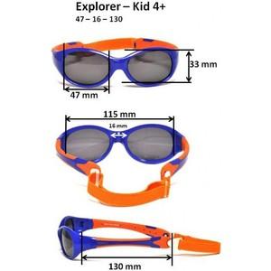 Cолнцезащитные очки Real Kids детские Explorer черный/красный, от 4 лет (4EXPBKRD)