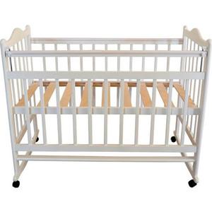 Кроватка Briciola 1 колесо качалка автоматическая белая BR0101