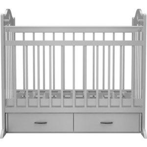 Кроватка Briciola 12 маятник поперечный ящик автоматическая белая BR1201