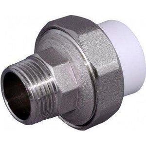 Муфта Pro Aqua PP-R W комбинированная разъемная с наружной резьбой 50х1 1/2 дюйма