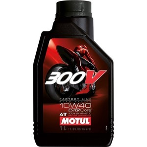 Моторное масло MOTUL 300 V 4T FL Road Racing 10w-40 1 л моторное масло motul 5000 4t 10w 40 1 л