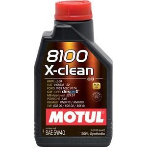 Моторное масло MOTUL 8100 X-clean 5W-40 1 л motul 8100 x clean 5w30 208л