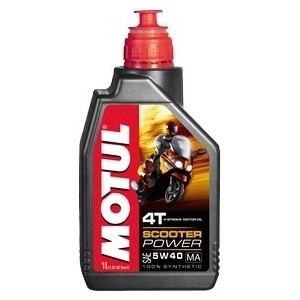 Моторное масло MOTUL Scooter Power 4T 5W-40 1 л цена 2017