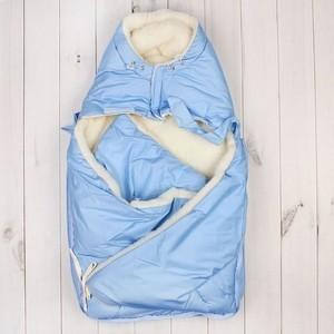 Конверт меховой Little People Кокон меховой голубой (12032) цена