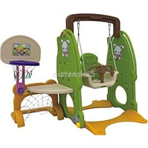 Игровой комплекс QIAOQIAO Зайка столик+футбольные ворота+качели+баскетбольное кольцо (QQ520)