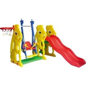 Игровой комплекс QIAOQIAO Заяц горка+качели+баскетбольное кольцо (QQ12065-6)