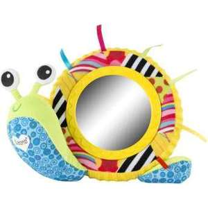Игрушка мягкая Tomy Lamaze Улитка Мишель с зеркальцем (ТО27168) lamaze lamaze развивающая игрушка tomy жучок на цветочке