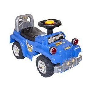 Каталка Baby Care Super Jeep синяя (553)