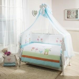 цена на Комплект в кроватку Perina Глория 4 предмета Hello бирюзовый (КПГ4-0499Г4-02.0)
