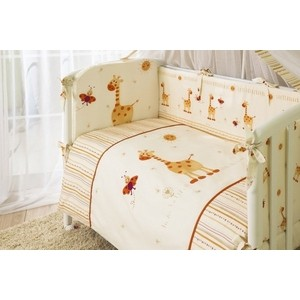 цена на Комплект в кроватку Perina Кроха 3 предмета жирафики бежевый (КПК3-0330К3-01.2)