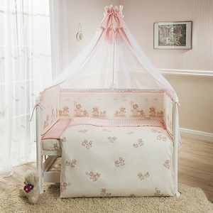 цена Комплект в кроватку Perina Тиффани 4 предмета неженка розовая (КПТ4-0502Т4-01.3) онлайн в 2017 году