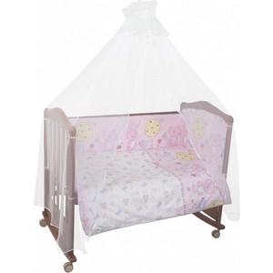 Комплект в кроватку Сонный Гномик Акварель 4 предмета розовый (КСА4-0569406/2) цена