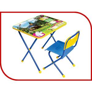 Набор мебели Nika Познайка стол стул Ловись рыбка Маша и Медведь (КНП2-0282КП2/5) набор мебели nika умничка стол стул азбука 3 маша и медведь кну1 0283ку1 3