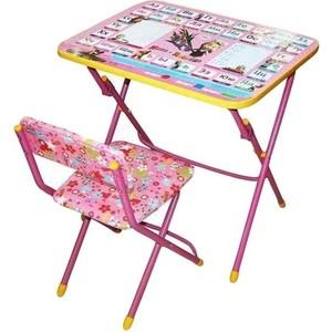 Набор мебели Nika Умничка стол стул Азбука 3 Маша и Медведь (КНУ1-0283КУ1/3) набор мебели nika пушистая азбука стол парта мяг стул h580