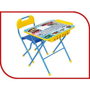 Набор мебели Nika Умничка стол стул большие гонки (КНУ1-0283КУ1/15) набор мебели nika умничка стол стул азбука 3 маша и медведь кну1 0283ку1 3