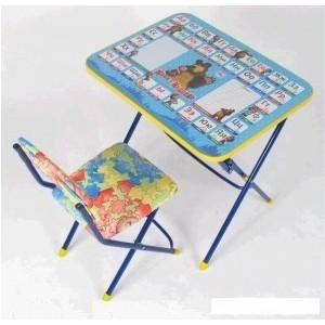 Набор мебели Nika Умничка стол стул Ловись рыбка Маша и Медведь (КНУ1-0283КУ1/5) набор мебели nika умничка стол стул азбука 3 маша и медведь кну1 0283ку1 3