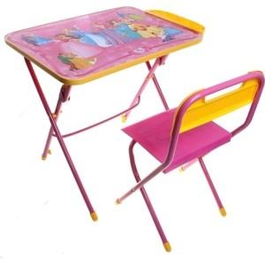 Набор мебели Nika Умничка стол стул Маленькая принцесса (КНУ1-0283КУ1/17) набор мебели nika умничка стол стул азбука 3 маша и медведь кну1 0283ку1 3
