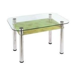 Стол обеденный Мебель из Стекла 3.4 золотые листья