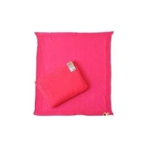 Комплект EKO вязанный косички подушка плед фуксия (KW-03) цена и фото