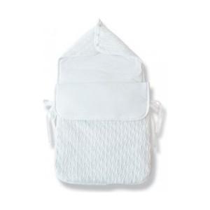 Конверт EKO для новорожденных ажурный вязанный розовый 40х80 см (BE-02)