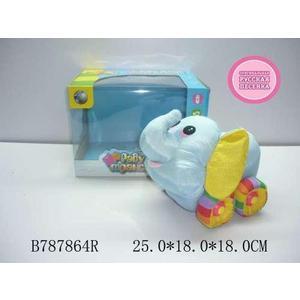 Мягкий слоненок 1Toy Радужный транспорт В72433
