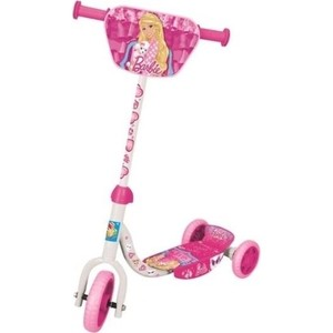 Самокат 3-х колесный 1Toy Barbie EVA 6/4 Т56921 самокат трехколесный barbie 1toy