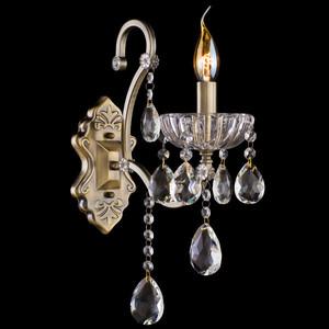 Бра Eurosvet 3108/1 античная бронза/прозрачный хрусталь Strotskis цена