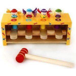 Деревянная игрушка Mapacha с молоточком Прыгающие клоуны (76540)
