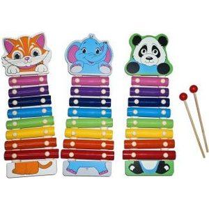 Музыкальный инструмент Mapacha Ксилофон Веселые зверята (76628) набор книжек малышек eva веселые зверята комплект из 4 книг