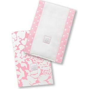 Полотенчики SwaddleDesigns Baby Burpie Set Pink Lush (SD-455P) автокресло wellodon encore fit lush