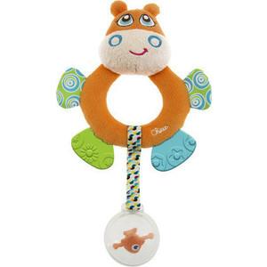 Игрушка погремушка Chicco мягкая Бегемот Hippo (7200) мягкая игрушка chicco 92408