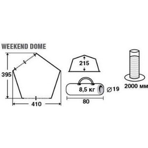 Шатер TREK PLANET Weekend Dome (70260)