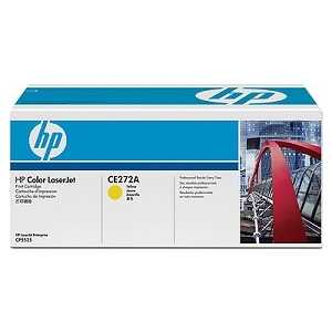 Картридж HP желтый CE272A картридж hp q7582a для принтеров hp color laserjet 3800 желтый 6000 страниц