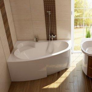 Акриловая ванна Ravak Asymmetric L 170x110 левая, без гидромассажа (C481000000) акриловая ванна ravak asymmetric 170 левосторонняя без гидромассажа c481000000