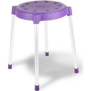 Табурет Sheffilton SHT-S36 фиолетовый/серый (4 штуки)