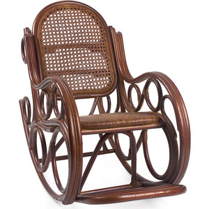 Кресло-качалка Мебель Импэкс Novo МИ с подушкой коньяк