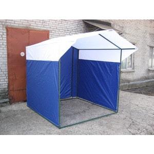 Палатка торговая Митек Домик 3,0х1,9 (разборная)(Синий/Белый)
