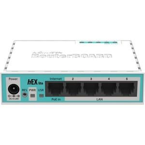 Маршрутизатор MikroTik RB750r2 hEX lite mikrotik hex poe lite rb750upr2
