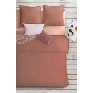 Комплект постельного белья Сова и Жаворонок Евро, бязь Premium, гладкокрашеная, Божественная магнолия цена