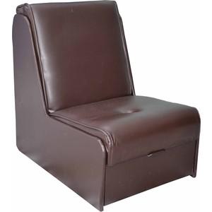 Кресло-кровать Mebel Ars Аккордеон №2 экокожа (шоколад) ППУ фото