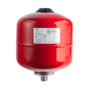 Расширительный бак STOUT для систем отопления с диафрагмой (красный) (STH-0004-000008)