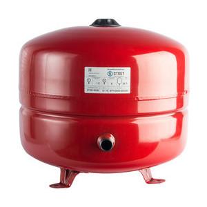 все цены на Расширительный бак STOUT для систем отопления с диафрагмой с ножками (красный) (STH-0005-000035) онлайн