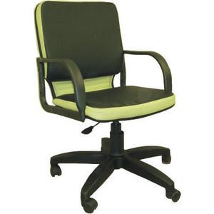 Кресло Союз мебель Элит ТГ экокожа черно-зеленая